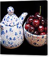 Cherries Invited To Tea Canvas Print