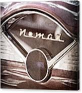 Chevrolet Belair Nomad Dashboard Emblem Canvas Print