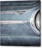 Chevrolet Corvair Emblem Canvas Print
