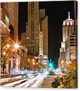 Chicago Michigan Avenue Light Streak Canvas Print