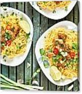 Chicken Noodles Canvas Print