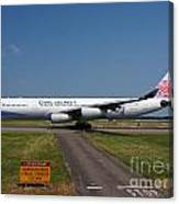 China Airlines Airbus A340 Canvas Print