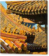 China Forbidden City Roof Decoration Canvas Print