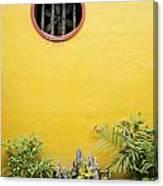 Chinese Temple Garden Detail In Vietnam Canvas Print