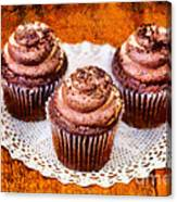 Chocolate Caramel Cupcakes Canvas Print