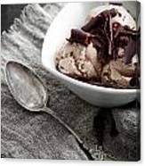 Chocolate Ice Cream Canvas Print