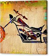 Chopper Art Canvas Print
