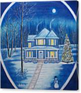 Christmas In Blue Canvas Print