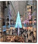 Christmas Shopping In Toronto Canvas Print