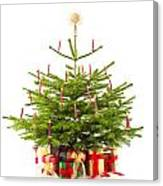 Christmas Tree Decorated With Presents  Canvas Print