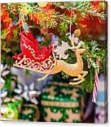Christmas Tree Ornaments And Decorations Canvas Print