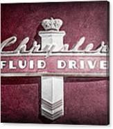 Chrysler Fluid Drive Emblem Canvas Print