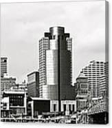 Cincinnati Black And White Panorama Canvas Print