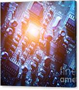 Circuit Board Abstract Canvas Print