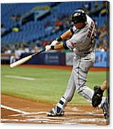 Cleveland Indians V Tampa Bay Rays 2 Canvas Print