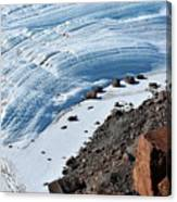 Cliffs And Sea Ice Canvas Print
