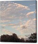 Clouds Above The Trees Canvas Print