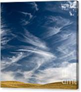 Clouds And Field Canvas Print