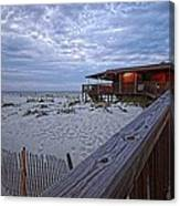 Cloudy Morning At The Sea N Suds Canvas Print