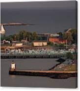 Coastal Life In Maine Canvas Print