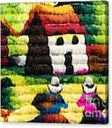 Colorful Fabric At Market In Peru Canvas Print