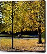Colorful Fall Autumn Park Canvas Print