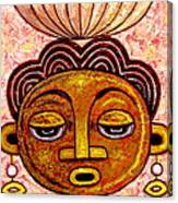 Congalese Face 2 Canvas Print