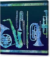 Cool Blue Band Canvas Print