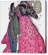 Costume Design For The Ballet La Canvas Print
