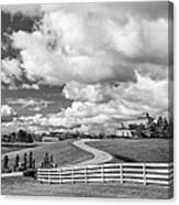 Country Living Bw Canvas Print