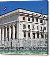 Croatian National Bank Zagreb Canvas Print