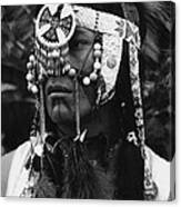 Crow Native American Traditional Dress Rodeo Gallup New Mexico 1969 Canvas Print