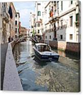 Cruisin' The Canals Canvas Print
