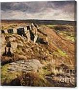 Curbar Edge Canvas Print