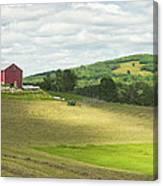 Cutting Hay In Summer On Maine Farm Canvas Print