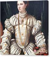 Da Brescia's Portrait Of A Lady In White Canvas Print