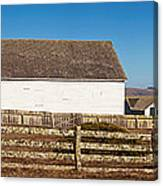 Dairy Buildings At Historic Pierce Canvas Print