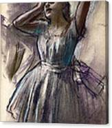 Dancer Stretching Canvas Print