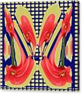 Dancing Tulip Red Exotic Flower Petal Based Wave Pattern  Created By Navinjoshi Reiki Healing Master Canvas Print