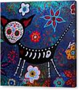 Day Of The Dead Chihuahua Canvas Print