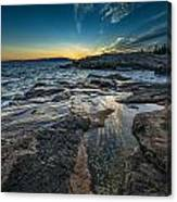 Day's End At Scoodic Point Canvas Print