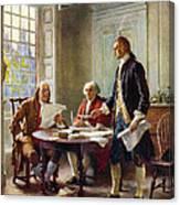 Declaration Committee Canvas Print