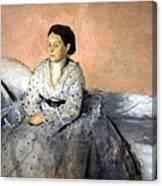 Degas' Madame Rene De Gas Canvas Print