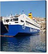 Diagoras Ferry Symi Canvas Print