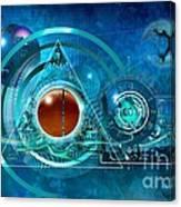 Digital Genesis Canvas Print