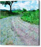 Dirty Road Painting Canvas Print