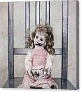 Doll With Tea Cup Canvas Print