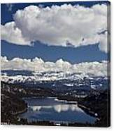 Donner Lake Donner Pass With Snow Canvas Print