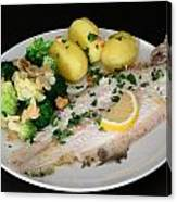 Dover Sole Fish Dinner Canvas Print