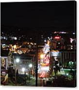 Downtown Morgantown From Above Canvas Print